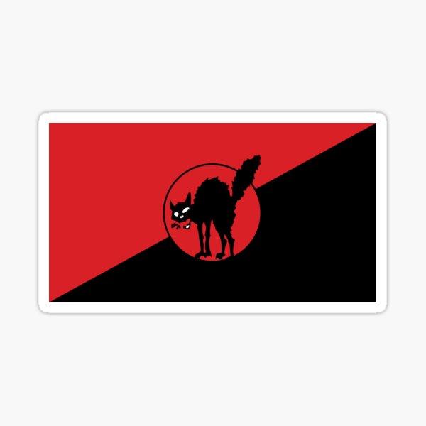 sindicalismo anarco - sabo tabby Pegatina