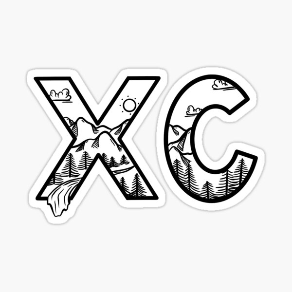 Cross Country Mountain Scape Sticker
