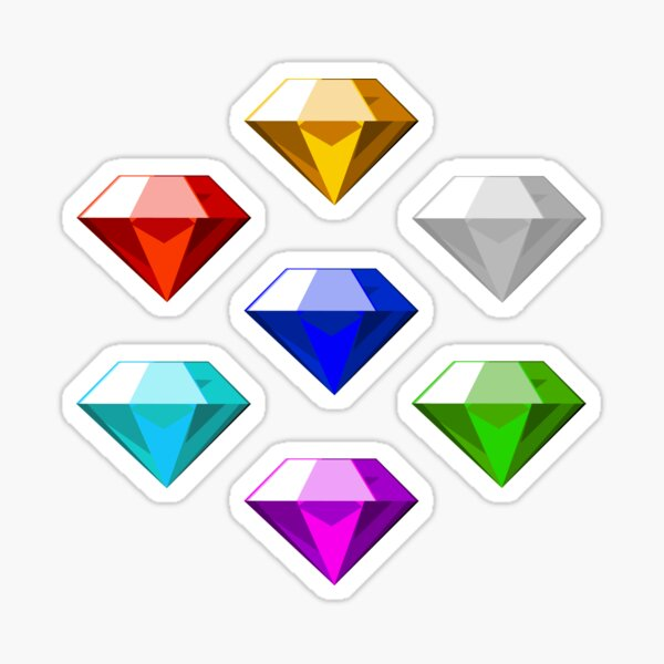 Chaos Emeralds Sticker
