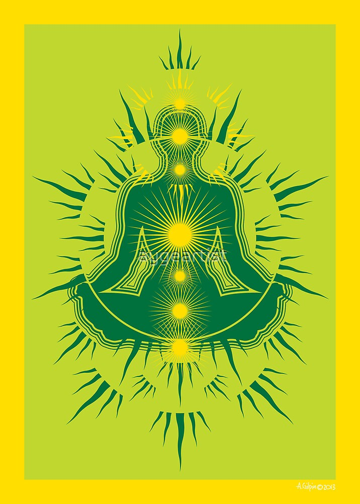 Yoga pose Emerald-Lime-yellow by aygeartist