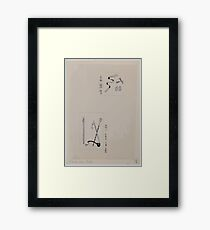 Two images  top  shash and attachments for uniforms  bottom  batons or ceremonial staffs 001 Framed Print