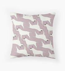 Bull Terrier pattern Throw Pillow