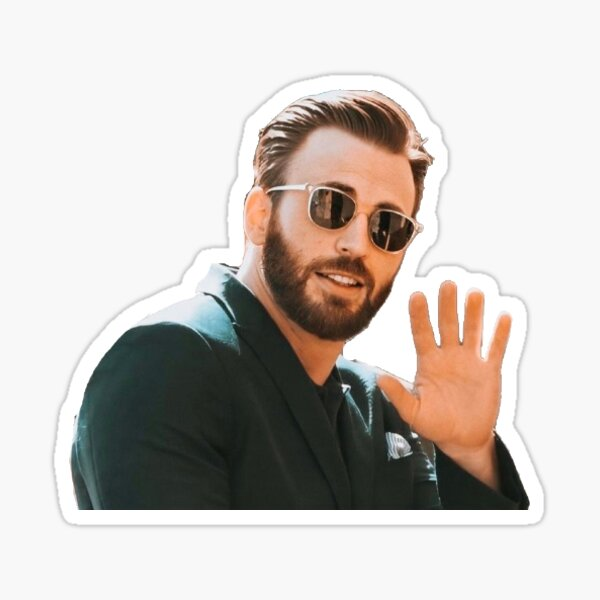 chris evans w sunglasses  Sticker