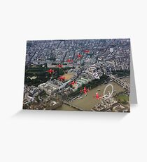 Capital Fly Past Greeting Card
