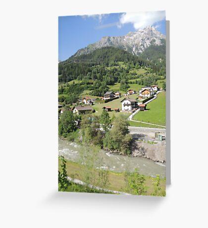 Somewhere between Zurich and Innsbruck Greeting Card