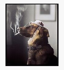 """Alex"" the Smoking Police Dog Photographic Print"