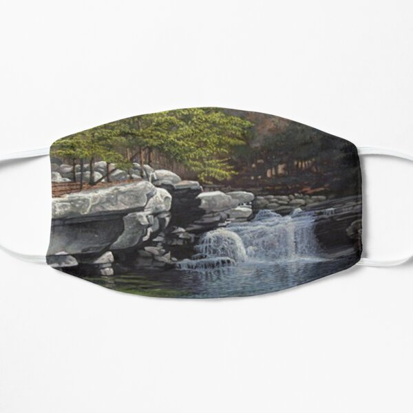 """Bartlett's Falls"" Bristol Vermont painting by Reed Prescott Flat Mask"