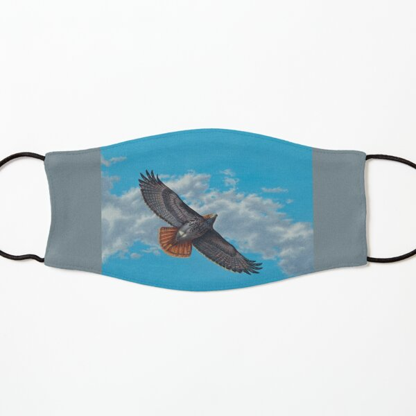 """""""Freedom on the Wing"""" Red tailed Hawk in Flight Kids Mask"""