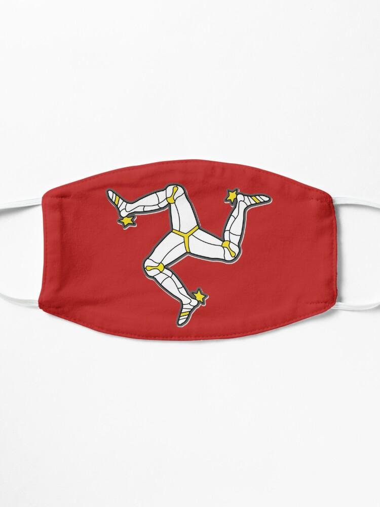 Alternate view of Isle Of Man 3 Legs Of Man Traditional Manx Flag Celtic Triskelion Mask