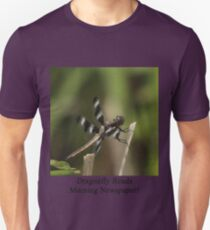 Dragonfly Reads Morning Newspaper Unisex T-Shirt
