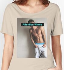 Rusko Star Attention Whore Women's Relaxed Fit T-Shirt
