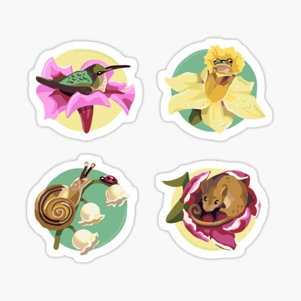 Animals with flowers Sticker