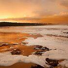 Orange Sunset at Merimbula by Pauline Tims