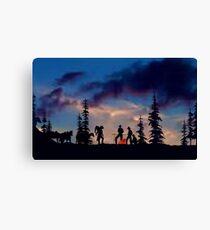 Campfire Tales (sky version) Canvas Print