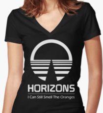 Horizons - I Can Still Smell The Oranges (All White Design) Women's Fitted V-Neck T-Shirt