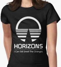 Horizons - I Can Still Smell The Oranges (All White Design) Women's Fitted T-Shirt