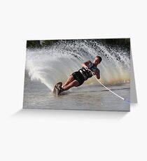 Water Skiing Greeting Card