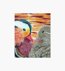 Mandarin Ducks in Love Art Board