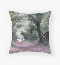 Went back to the Tunnel of Trees Throw Pillow