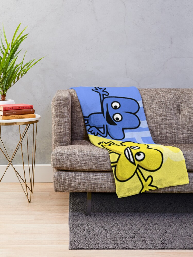 Alternate view of BFB 4 and X design Throw Blanket
