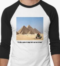 "Karl Pilkington - ""It's like a game of Jenga that's got out of hand"" Men's Baseball ¾ T-Shirt"