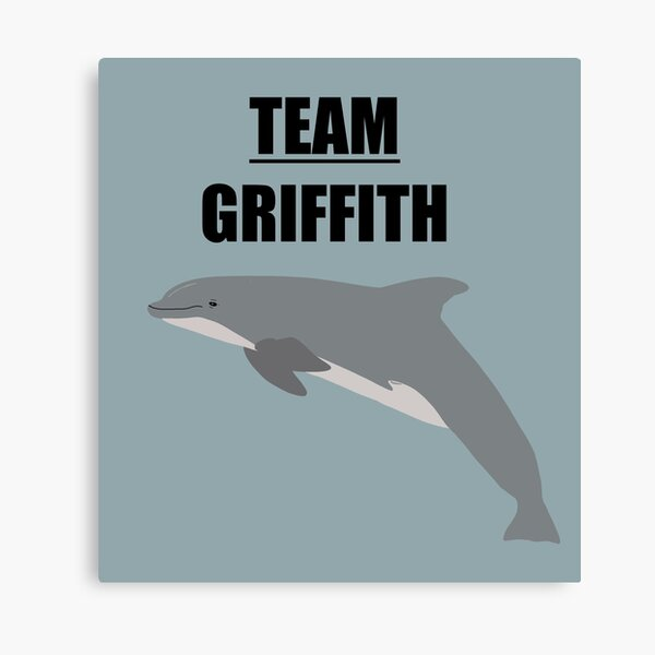 """""""Team Griffith"""" the bottlenose dolphin Canvas Print"""