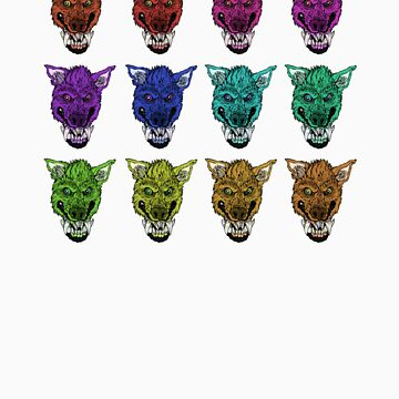 Colorful Werewolves- Collage by vanweasel
