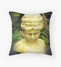 Lady in waiting or bust Throw Pillow