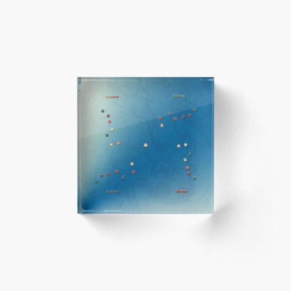 The Big Dipper (Ursa Major) In The Four Seasons In Gorgeous Blues Acrylic Block
