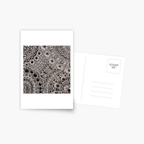 Beaded Lace Postcard
