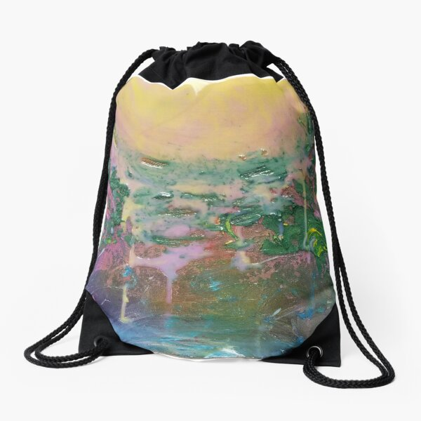 Dripping sunset  Drawstring Bag