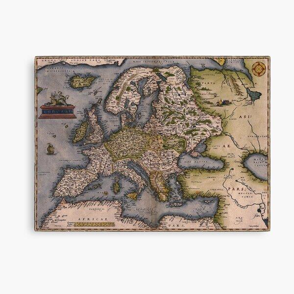 Europe Map 1572 Canvas Print