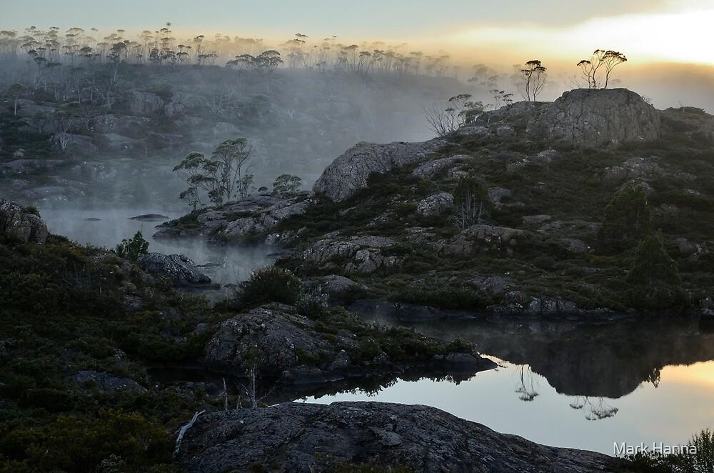 Misty sunrise at Chalice Lake by Mark Hanna