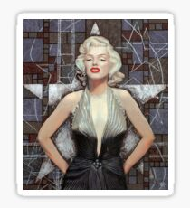 Marilyn Monroe, Old Hollywood, celebrity art, brown shades Sticker