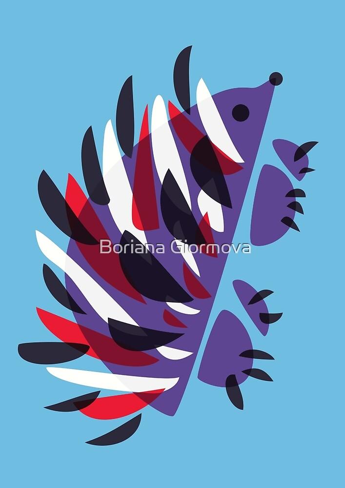 Colorful Abstract Hedgehog by Boriana Giormova