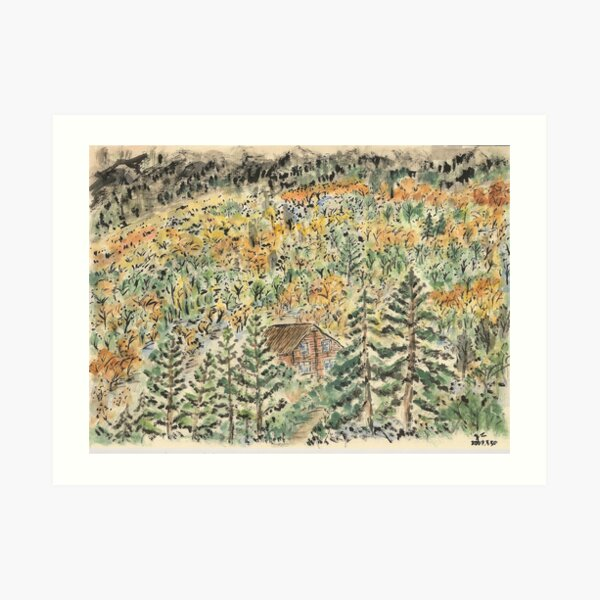 A House in the Wood Art Print