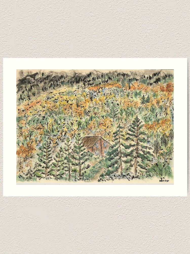 Alternate view of A House in the Wood Art Print