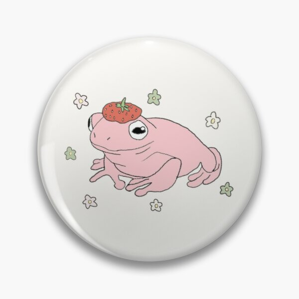 Strawberry Frog Pin