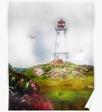 Morning Mist - Louisbourg Poster