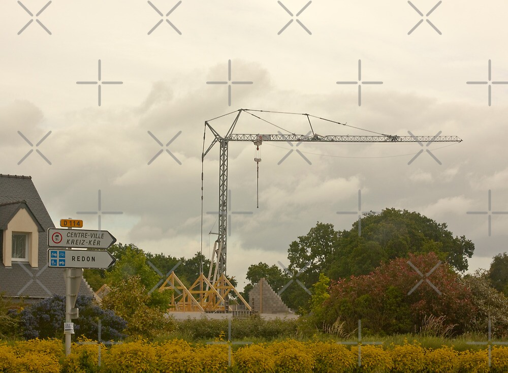 Constructing a House near Redon Brittany France by Buckwhite