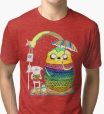 Adventure Time Rainbow Tri-blend T-Shirt