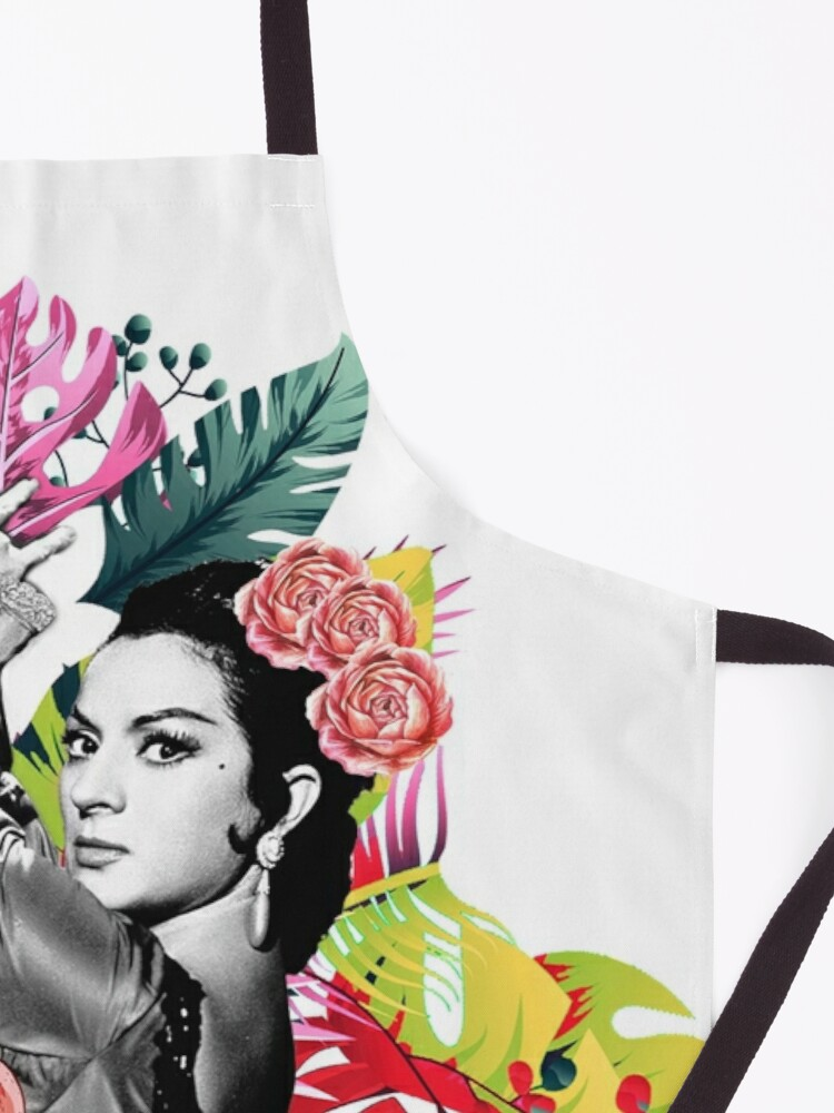 Vista alternativa de Delantal Lola Flores Tropical Flamenco
