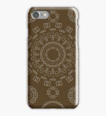 Monogram Pattern (D) in Carafe iPhone Case/Skin