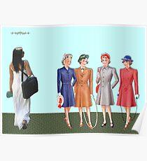 Teenage fashion 1940s. Poster