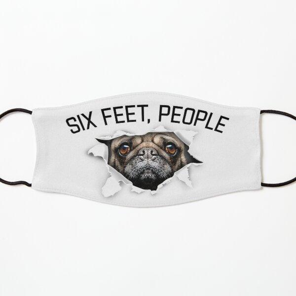 Grumpy Pug With a Very Sad Face - six feet people animals face tear torn social distance Kids Mask