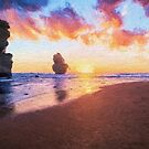 12 Apostles with Marshmallow Skies  (EH) by Ray Warren