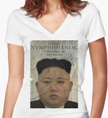 Kim Jong-un Nymphomaniac: Volume II Women's Fitted V-Neck T-Shirt