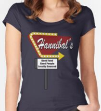 Hannibals Diner Women's Fitted Scoop T-Shirt