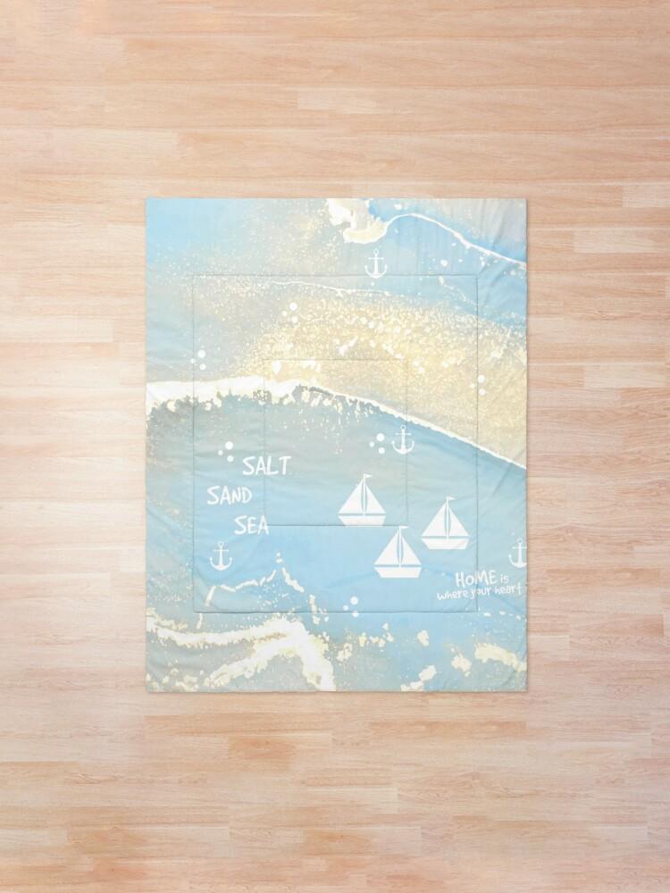 Alternative Ansicht von SALT SAND SEA Tagesdecke