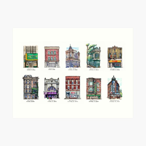 Chicago Small Buildings Series 1 Art Print